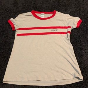 Victoria Secret Pink t-shirt red and nude
